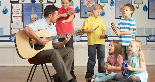tutor and childrens